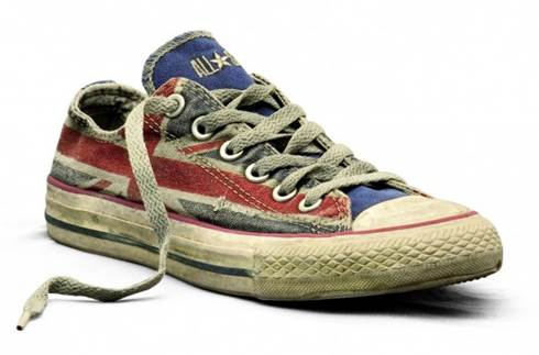 converse all star stampa bandiera americana