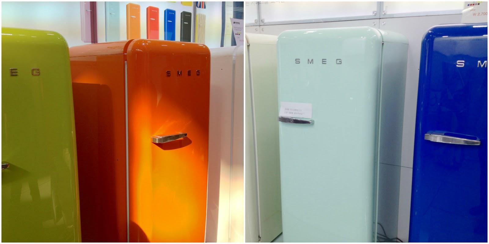 best frigo smeg colorato images. Black Bedroom Furniture Sets. Home Design Ideas