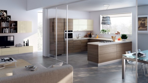 Awesome Arredamento Open Space Cucina Salone Contemporary - Ideas ...