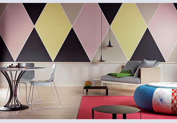 Decorazioni geometriche per pareti fotogallery donnaclick for Idee per decorare i muri di casa