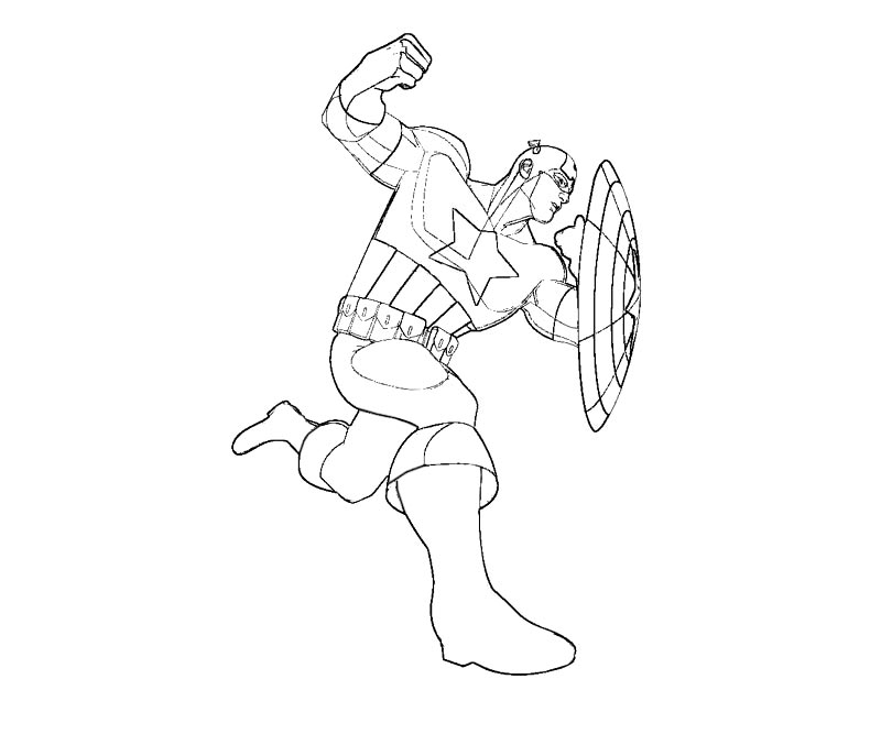 captian america coloring pages - disegni di capitan america da colorare pagina 3