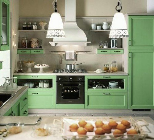 Stunning Cucina Country Verde Ideas - Home Interior Ideas - hollerbach.us