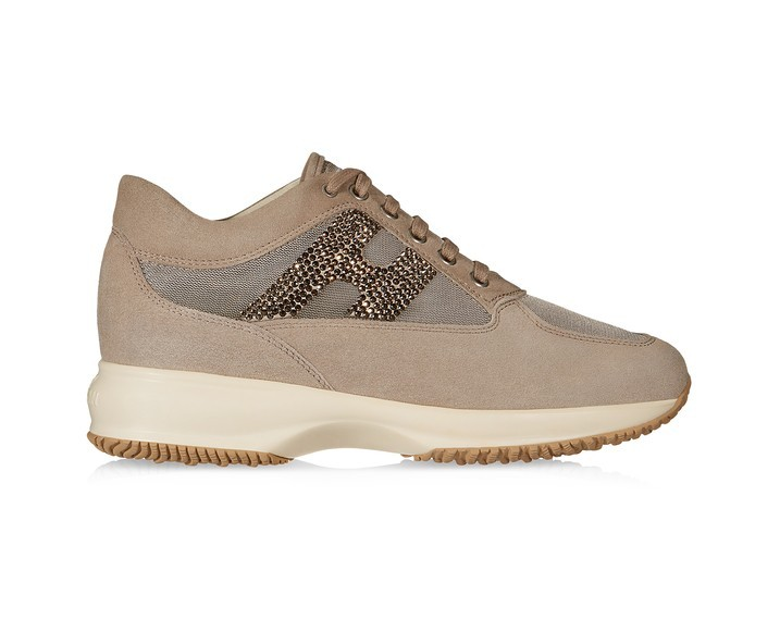 hogan beige brillantini