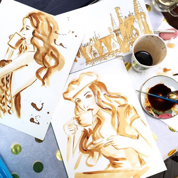 Coffe painting