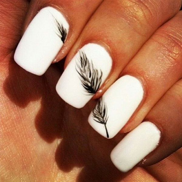 Top Nail art in bianco e nero - Fotogallery Donnaclick UB12