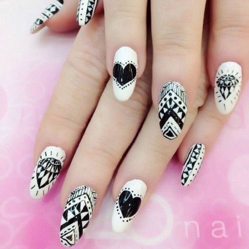 Fabuleux Nail art in bianco e nero - Fotogallery Donnaclick RS62