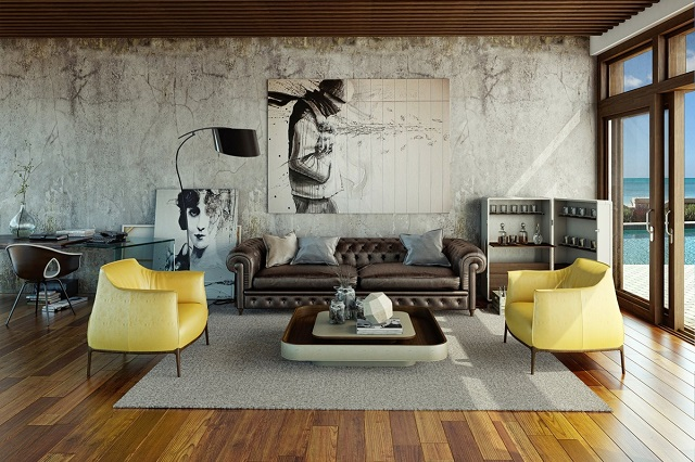 Arredamento urban chic fotogallery donnaclick for Design moderno casa industriale
