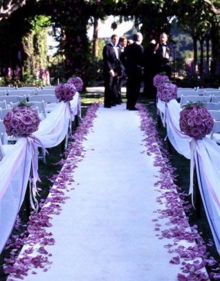 Preferenza Addobbi e decorazioni per un matrimonio color lavanda, tanti  QB31