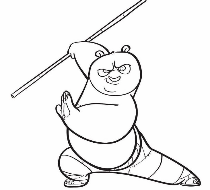 Disegni di kung fu panda da stampare fotogallery donnaclick for Guerriero da colorare