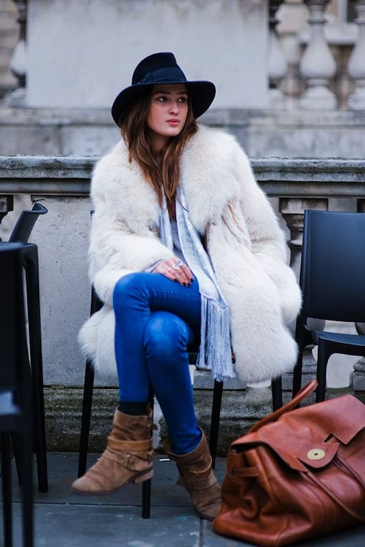 Look con cappotto e cappello
