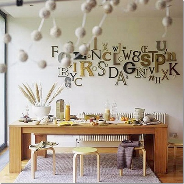Decorare con il lettering fotogallery donnaclick - Decorazione muri interni ...